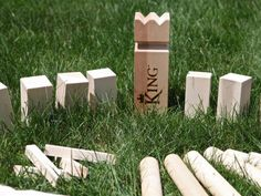 The Grommet team has discovered V:King inspired by a centuries old Swedish Lawn Game known as Kubb where axes are thrown at shields in a quest to conquer the King.
