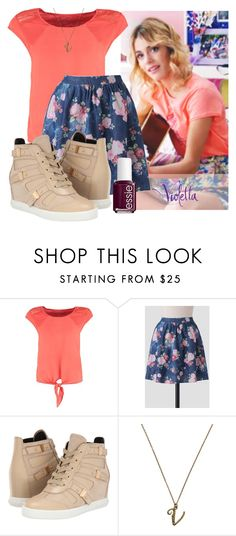 """""""Violetta #4"""" by candygirllnm ❤ liked on Polyvore featuring Naf Naf, Pierre Balmain, Alex Monroe, Essie, women's clothing, women, female, woman, misses and juniors"""