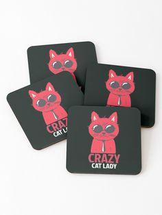Crazy cat lady Coasters (Set of 4)