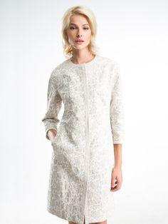 Элегантное женственное летнее платье-пальто в стиле 60-х годов, выполненное из…