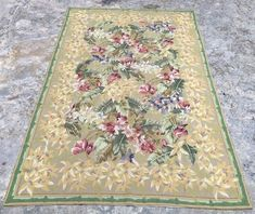Floral Rug, Floral Design, Aubusson Rugs, Afghan Rugs, Small Rugs, Modern Rugs, Hand Knotted Rugs, Kilim Rugs, Vintage Rugs