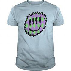 Green  Purple Smiley TShirts  Unisex Tie Dye TShirt