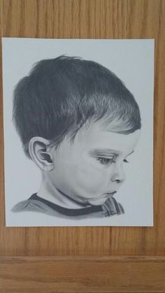 Pencil drawing of my 3 year old, Noah