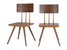 2 x Cornell chaises en noyer Made.com
