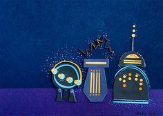 Items similar to Blue and Orange Dreaming Robots Cut Paper Illustration Fine Art Print on Etsy Cut Paper Illustration, Tactile Texture, Art Reproductions, Love Art, Paper Cutting, Robots, Fine Art Prints, Original Art, My Etsy Shop