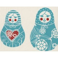 Russian Nesting Dolls in Design. DIY template pattern and idea for designing and sewing and making your own nesting babushka doll appliqué.