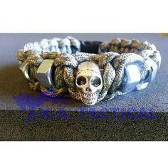 Custom Made Skull Hex Nut Paracord Bracelet