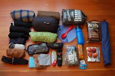 packing up for bike camping. great website to get started!