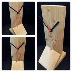 Table clock wooden clock watch wood clock by SchermannArtDesign