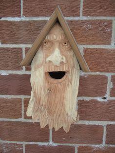 Rustic wood birdhouse  Cedar wood birdhouse  by OsborneArtwork