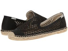 Soludos Smoking Slipper Perforated Leather
