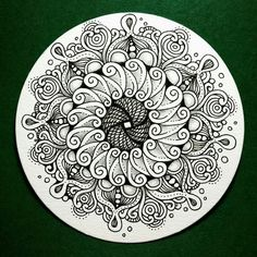 Zendala. Would be a great trivet design on a bisque tile.