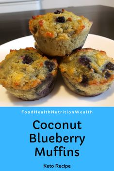We've been making these Coconut flour Blueberry muffins every week. Great for a quick snack or part of a breakfast or lunch. Low Carb Breakfast, Healthy Breakfast Recipes, Healthy Meals, Healthy Recipes, Low Carb Bread, Quick Snacks, Blue Berry Muffins, Coconut Flour, Health And Nutrition