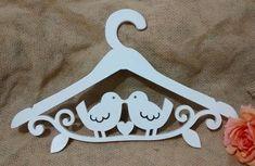 Cabide Casal Pássaros Noiva