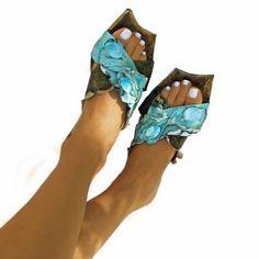 "Greek Handmade Leather Sandals, Handpainted Light-blue Sandals, Women Sandals ""Iris"" (handmade to order) Greek Sandals, Blue Sandals, Shoes Sandals, Heels, Women Sandals, Skin Treatments, Cow Leather, Leather Sandals, Light Blue"