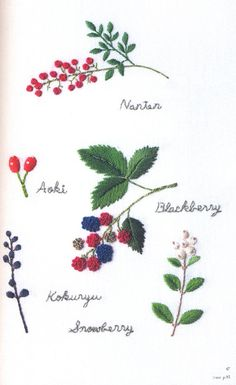 Master Collection Kazuko Aoki 16 - Embroidered Garden Flowers - Japanese craft…