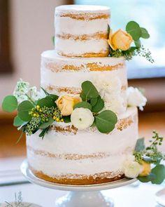 45 Simple, Elegant, Chic Wedding Cakes ❤ simple elegant chic wedding cakes white naked cake Tamara Gruner Photography #weddingforward #wedding #bride