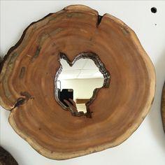 Log Mirror, Live Edge Mirror, Rustic Décor, Cottage Cabin Decor