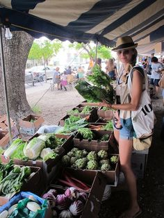 Farmers Market in Coconut Grove.  One of my favorite places!