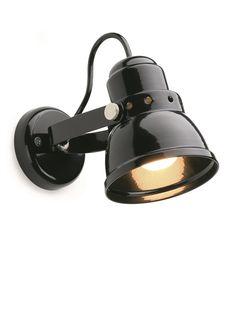 Small steel wall light - black, Steel wall light - Holloways of Ludlow