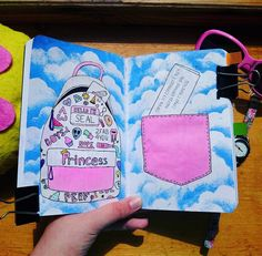 Bullet Journal Ideas Pages, My Journal, Journal Pages, Journals, Wreck This Journal Everywhere, Create This Book, Mixed Media Journal, Diy Notebook, Scrapbook