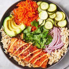 Fish Recipes, Seafood Recipes, Dinner Recipes, Cooking Recipes, Healthy Recipes, Dinner Ideas, Delicious Salmon Recipes, Thai Recipes, Healthy Dinners