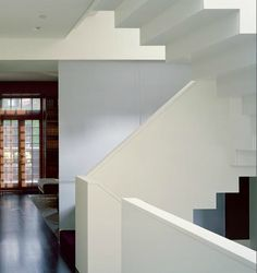 Modern minimalist white staircase by Billinkoff Architecture, Remodelista