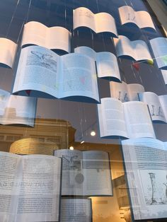 Paper book window display at Seasalt #floating #book #displaywindow