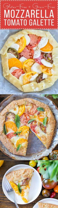 This Mozzarella Heirloom Tomato Galette showcases beautiful heirloom ...