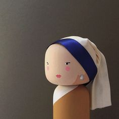 Girl with a Pearl Earring Kokeshi Doll - Instagram