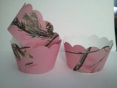 Camoflauge Cupcake Wrappers Set of 12 Pink Camo by SparklezMore, $3.95