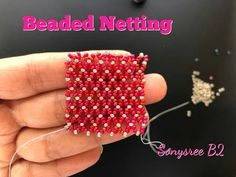 Beaded netting Easiest Method you have ever seen.How to do Horizontal Beaded Netting Stitch - YouTube