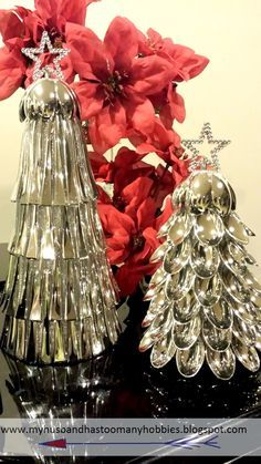 DIY Christmas Tree Cones made with dollar store supplies.
