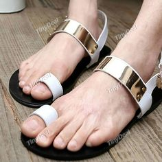 Casual Set of Toe Faux Leather Rubber PU Purity Sandals Slippers Campagus DSH-303168