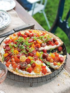 A summery tart that works equally well as a light meal or colourful side