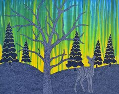 Northern Beauty - My Painted Path Northern Nights, Winter Night, Paths, Deer, Art Projects, Birds, Fall, Artwork, Artist