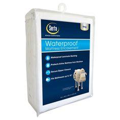 Waterproof Mattress Protector White King - Serta