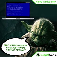 The dreaded blue screen now has a remedy get in touch with @MygadgetWorks!  Visit: http://www.mygadgetworks.com/product-category/services/computer-repair/  for to #schedule an appointment or mail in your device.  #Macbookrepair #laptoprepair #iMacRepair #crackedscreen #repair