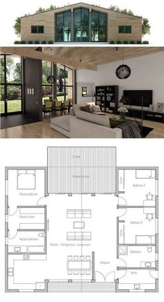 Container House - Stunning 87 Shipping Container House Plans Ideas - Who Else Wants Simple Step-By-Step Plans To Design And Build A Container Home From Scratch? Building A Container Home, Container House Design, Small House Plans, House Floor Plans, Pole Barn House Plans, Small Rooms, Small Spaces, Casas Containers, Storage Containers