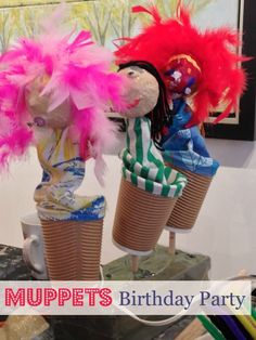 Muppets Birthday Party for Kids: Create Your Own Muppets! Muppets Party