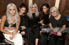 Lottie Tomlinson, Danielle Campbell, Lou Teasdale, Sophia Smith and Sam Teasdale attend as Lottie Tomlinson hosts a party to launch her collection Nails Inc X Lips Inc Matchbox collection, at Tape London on October 25, 2016 in London, England.