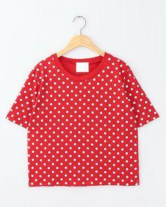 Vintage polka dot T-shirt three colors $17.90  ON SALE