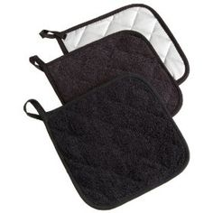 Excello Terry Potholder, Set of 3