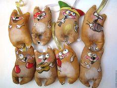 Ароматизированные куклы ручной работы. Кофейные котики. Наталия Крыжановская (natally-art). Ярмарка Мастеров. Игрушка на елку