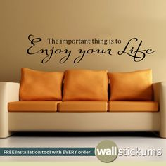 Wall Decal Quote  Enjoy Your Life Quote Audrey by WallStickums