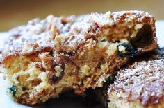 Eggless Blueberry Coffee Cake... with Walnuts and Cinnamon (LOW FAT & 135 Calories)   Honey, What's Cooking?