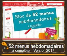 menus semaine Memoniak 2017
