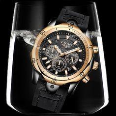35f2ff54564 Muži hodinky Nejlepší luxusní značka LIGE Pánské Sport Vodotěsné Quartz  hodinky Obchodní Big Dial Módní příležitostné černé kožené Hodinky Muž