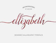 "Check out new work on my @Behance portfolio: ""Ellizabeth Script Typeface"" http://on.be.net/1ICqCKm"