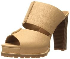 See By Chloe Women's SB26102 Heeled Sandal, Beige, 38 EU/8 M US >>> You can find out more details at the link of the image.
